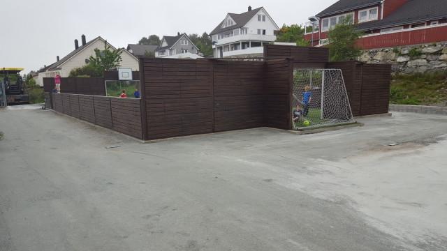 Avretta og planert før asfaltering